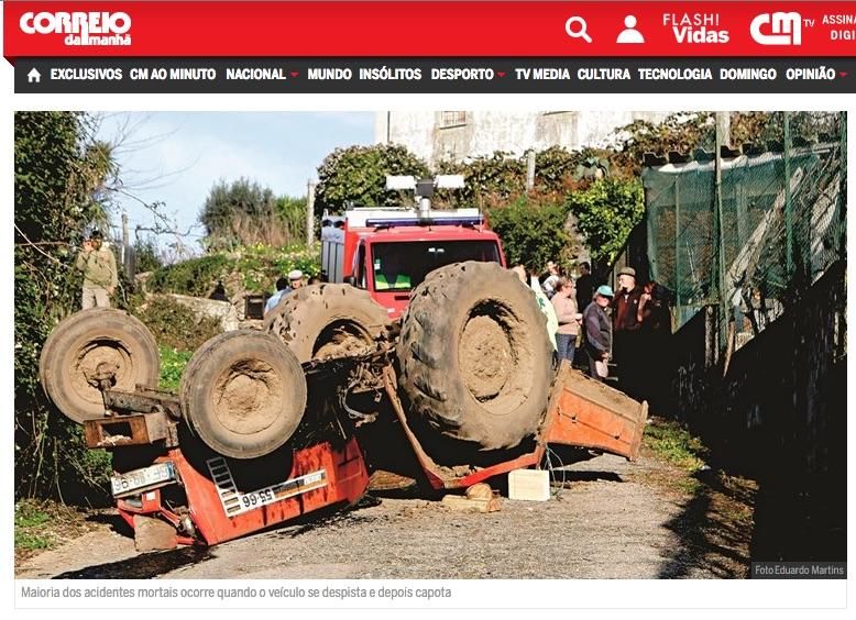 acidentes tratores agrícolas
