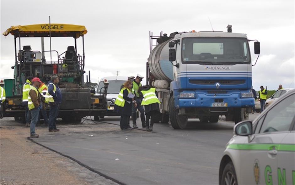 Acidente de trabalho no IP2 em Beja